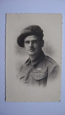 Old Vintage Postcard Soldier in Uniform Army  real photograph