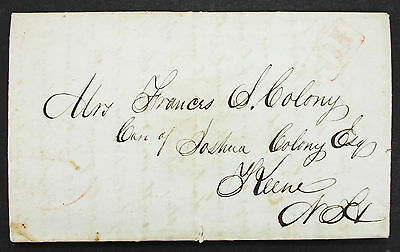 Palmyra 1846 Stampless Cover 10c Cancel - USA Vorphila Brief (L-236