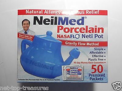 NEW NeilMed NASAFLO PORCELAIN Natural Allergy and Sinus Relief KIT