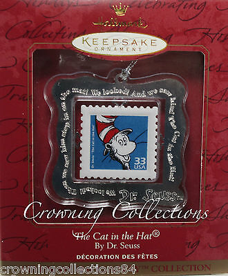 1999 Hallmark The Cat in The Hat Stamp Dr. Seuss Keepsake Ornament Postage Mail