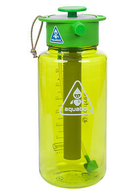 Lunatec Aquabot Sports Water Bottle with mist, shower and stream patterns. A1058