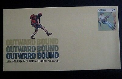 25TH ANNIVERSARY OF OUTWARD BOUND AUSTRALIA, 24 cent envelope