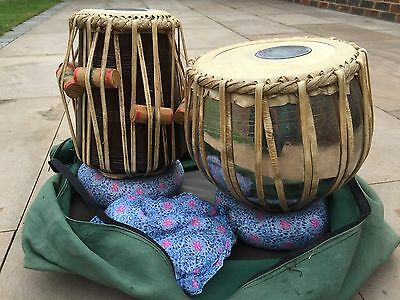 Indian tabla drums -pair-dayan and bayan. With Carry Case & Pads. Price Lowered!