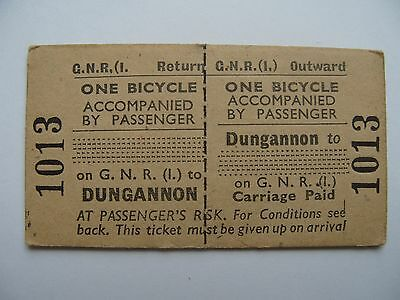 BICYCLE Ticket Great Northern Railway Ireland GNR I Dungannon -