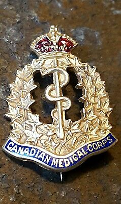 CEF Canadian Medical Corps Sweetheart Badge