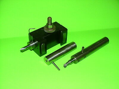 Aloris CA-42 Quick Change Tool Holder W/ Carbide Spotting Drill, Reduce Bushings