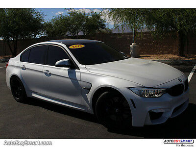 2015 BMW M3 M3 PDK, WHITE, DOWNPIPES 2015 White M3 PDK. NICE OPTIONS, CLEAN CARFAX!