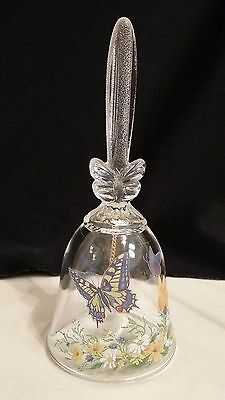 Avon 24% Full Led Crystal Butterfly Floral Bell
