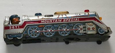 VINTAGE UNTESTED Tin Litho Mountain Special 3672 Train-Made in JAPAN