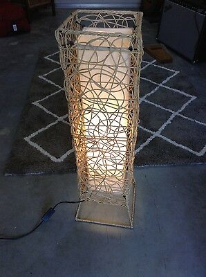 Floor Lamp in cane frame - PICK UP ONLY
