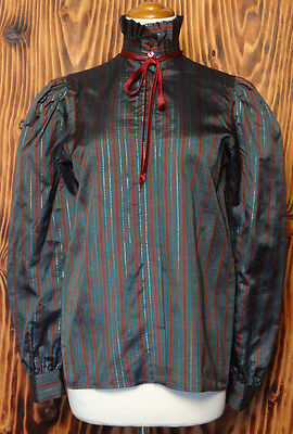 70s Vintage Shirt Steampunk Victorian Style Charles Jourdan Size Small