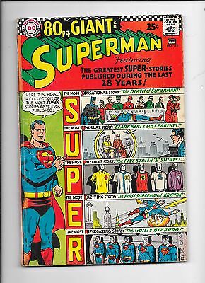 Superman #193 DC Comics (1967) 80 Page Giant Issue