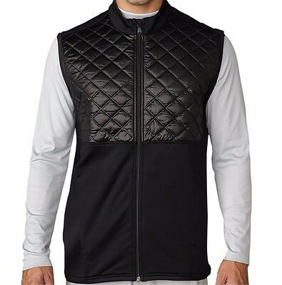 Adidas Climaheat Prime Quilted Full Zip Vest Mens Black New 2016 Pick A Size