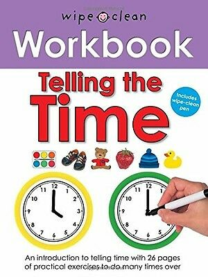 Telling the Time (Wipe Clean Workbooks) Roger Priddy New Book