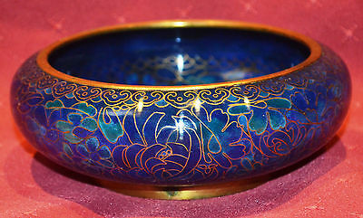 Cloisonne Bowl, Irridescent Blue, Stunning, in Excellent Condition