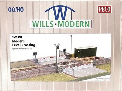Modern Level Crossing Plastic Kit Model Train OO / HO Wills / PECO SSM318