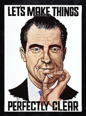 PRESIDENT RICHARD NIXON * CineMasterpieces ORIGINAL 1970 POSTER MARIJUANA JOINT
