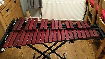 Stagg XYLO-SET 37 HG Professional Xylophone + Bag, Stand, and Mallets mint