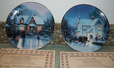 Hometown Yuletide & Homspun Holiday Home For The Holidays Plates Knowles Kinkade