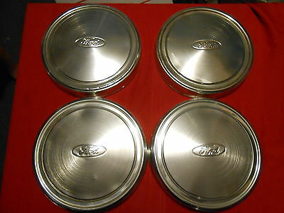Set of 4 Ford dog dish hubcaps