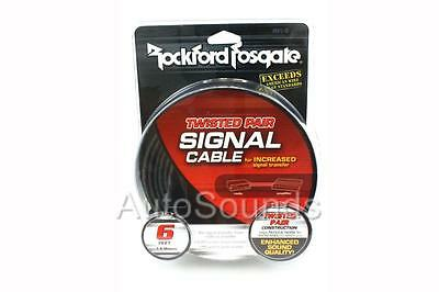 Rockford Fosgate RFI-6 FT Two-Channel RCA Twisted Pair Interconnect Signal Cable
