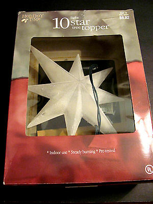 "10"" Holiday Time 10 Light Star Tree Topper"