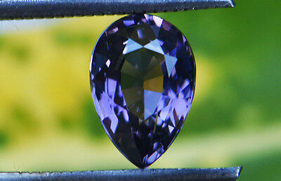 2.02 Cts Certified Natural Unheated Pear Cut Ceylon Purple Spinel Gemstone