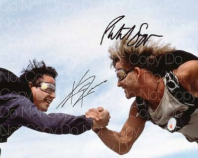 Point Break signed Patrick Swayze Reeves 8X10 photo picture autograph RP 3