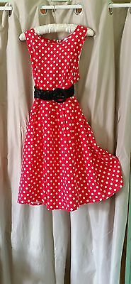 Red spotted Swing dress size 12