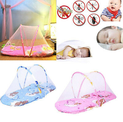 Infant Baby Nursery Mosquito Net Tent Mattress Cradle Bed Canopy Cushion pad AC