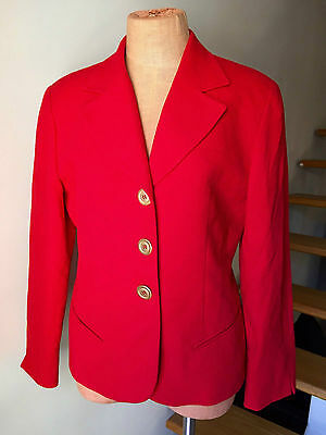 Authentic Christian Dior Suit Jacket Red