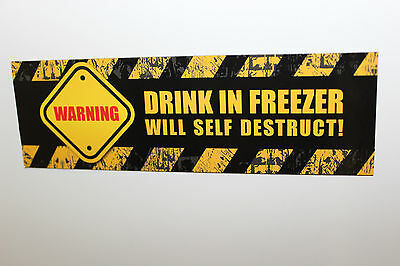 Drink in Freezer - Fridge Magnet - Don't end up with unwanted frozen drinks!!