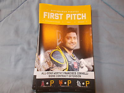 pittsburgh pirates first pitch issue 5 2016 cervelli angels mets cardinals