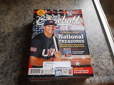 beckett baseball july 2015 #112 mike trout los angeles angels