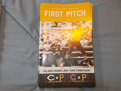pittsburgh pirates first pitch issue 3 2016 gregory polanco reds cubs