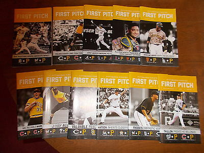 pittsburgh pirates first pitch almost complete set 2016 (all issues except #1)