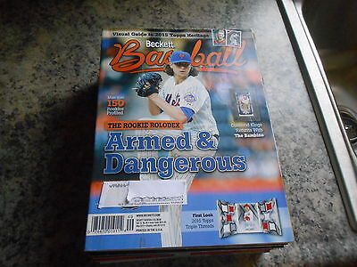 beckett baseball may 2015 #110 jacob degrom new york mets nl rookie of the year