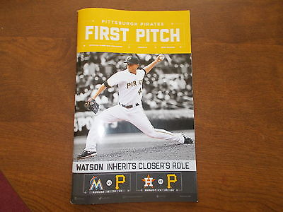 pittsburgh pirates first pitch issue 10 2016 tony watson marlins astros