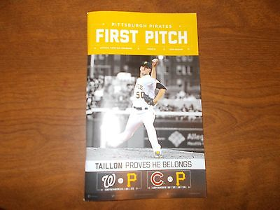 pittsburgh pirates first pitch issue 12 taillon nationals (clinch nl east) cubs