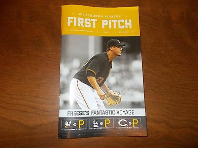 pittsburgh pirates first pitch issue 11 2016 david freese brewers cardinals reds