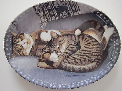 SWEET SLUMBER Bradford Exchange 1st Issue Kitty Comforts Plate Persis Weirs