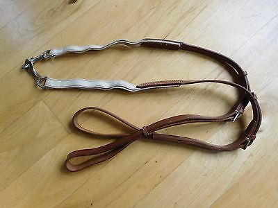 CROSBY Leather Side Reins w/ Double Elastic Training Aid