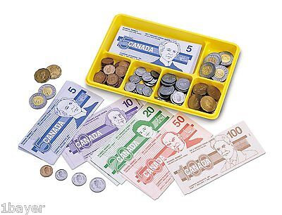 Learning Resources Canadian Currency Dollar Bill Cash Exchange Casino Coin Set