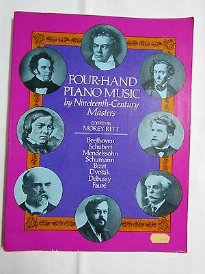 Four Hand Piano Music by Nineteenth Century Masters, Sheet Music Book