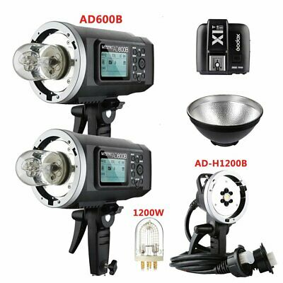 2X Godox AD600B TTL HSS Flash Strobe + AD-H1200B Flash Head + X1T-S for Sony
