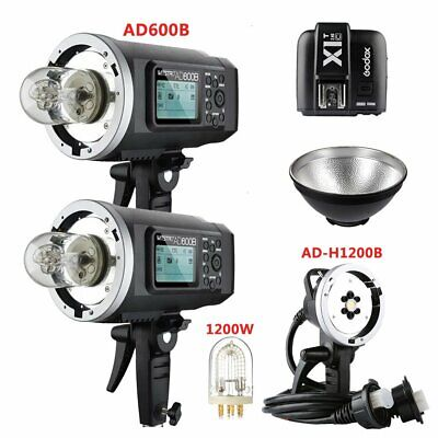 2X Godox AD600B TTL HSS Flash Strobe + AD-H1200B Flash Head + X1T-C for Canon