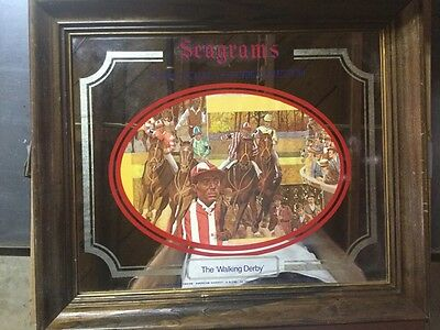 Seagram's Seven Crowns Of Sports Collection The 'walking Derby' Framed Mirror