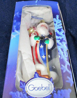 Goebel Hummel, Santa Glass Blown Ornament, Made In Germany, Heirloom Collection