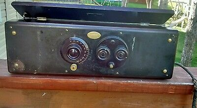 VINTAGE RADIO ATWATER KENT MODEL 30 Serial 619953 with 3 Extra Cunningham Tubes
