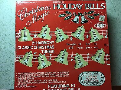 Christmas Magic Holiday Bells Electronic Plays Music Songs Trendmasters 1991